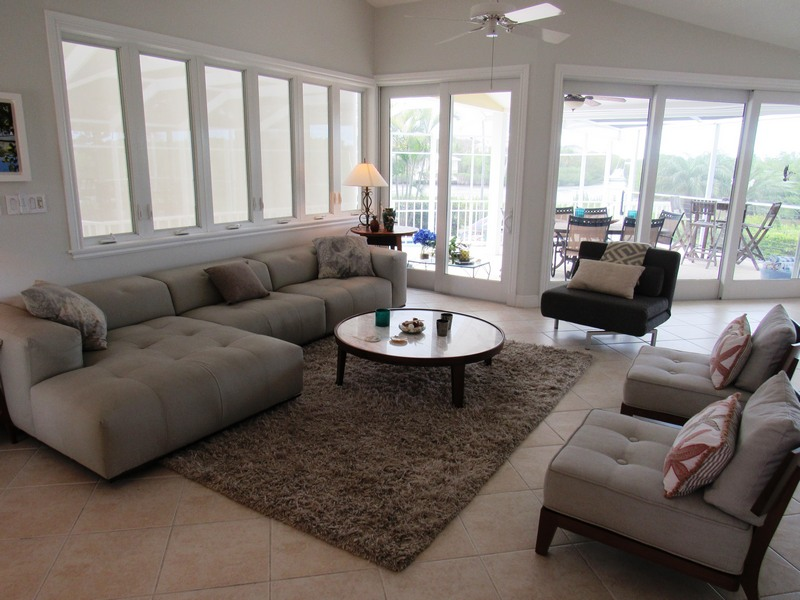 Living Room With Patio View